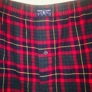 POLO BY RALPH LAUREN MENS XL FLANNEL BOXERS
